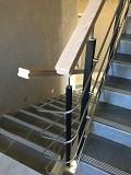 Комбинированные ограждения лестниц/нержавейка, полимер, дуб Минск
