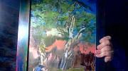 Картина конь возле березы Брест