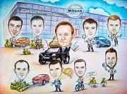 Коллективный шарж – отличный подарок для любой компании Минск