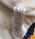Куртка синяя в цветочки, теплая, р.74-80 (9-12мес), б.у Брест