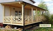 Террасы, строительство придомовых навесов из дерева. Минск