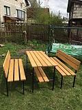 Набор садовой мебели сосна (стол + 2 скамейки ) Минск