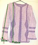 Кофта сиреневая с узором с длинным рукавом, р.42-44 Брест