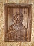 Резные объёмные иконы из дуба и ясеня Заславль