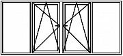 Окно ПВХ новое 3000х1500 4 секции 2 створки Брест