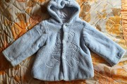 Кофта-курточка голубая плюшевая на 4-6мес Брест